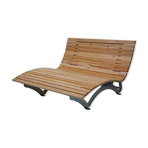 Sonnenliege Waldsofa Forst Rombus 150 für 2-3 Personen aus Holz | Außenliege, Himmelsliege, Wellnessliege, Holzliege für den Garten