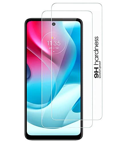 DN-Alive Protector de pantalla de cristal templado para Moto G60S, [2 unidades] [Compatible con funda] [a prueba de arañazos] [dureza 9H] [claridad HD] Protector de pantalla para Motorola G60S