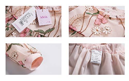 AIKSSOO Automne Enfants Bébé Robe Brodée Fashion Floral Jupe à Manches Longues Robe Size 73 (Pink)