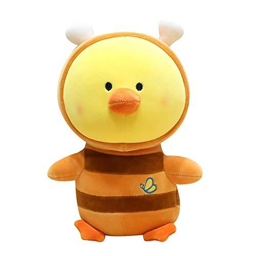DINGX Gefüllte tierförmige Puppe, kleines gelbes Hähnchen-Plüsch-Spielzeug Nettes Kissen Haustier weiche flaumige Kissengeburtstagsgeschenk für Kinder Mädchen Chuangze (Color : Orange)