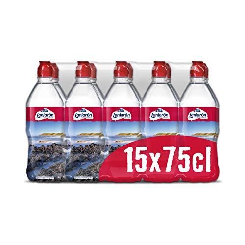 Lanjarón Agua Mineral Natural con Tapón Sport, 15 x 75cl