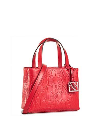 Armani Exchange Liz Small Open Shopping Tote, color Rojo, talla 18x13x26 cm (B x H x T)