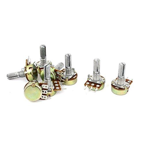 Uxcell a15011600ux0239 2 Sets 1K 2K 5K 10K Ohm Linear Taper Rotary Potentiometer Pot