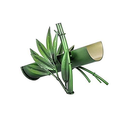 DAGONGREN Creativo Diseño de Bambú Verde Tenedores de Vino Vino Tinto Estante Botella De Cristal Estante Estante del Vino Escultura de Metal Artesanía Inicio Decoración