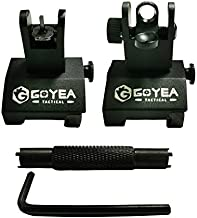 Goyea Tactical Flip Up Backup Sights Rapid Transition Backup Front and Rear Iron Sight