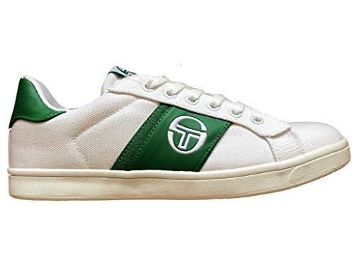 Sergio Tacchini - Zapato Parigi Kid – Blanco y Verde – Talla, (Blanco y verde), 34 EU