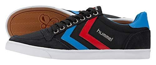 Hummel Unisex-Erwachsene SLIMMER STADIL LOW, Schwarz (Black/Blue/Red/Gum), 39 EU