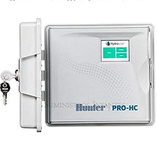 Programador WiFi eléctrico Hunter 6 Zonas Exterior. Programador de riego Hydrawise controlado vía WiFi Desde Cualquier Parte del Mundo Desde su móvil iPhone o Android, y Desde un Ordenador
