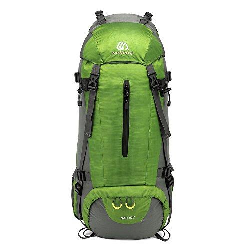 Le compartiment principal permet de ranger tous vo Mochila de alpinismo Viajes al caminar Camping Mochila de viaje Salpicaduras Agua Neutral Hombros multifuncionales Adecuado for uso en exteriores Paq