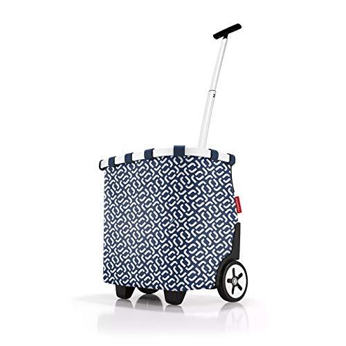 reisenthel Carrycruiser OE4073 - Carro de la Compra en Color Azul Marino - Volumen: 40 L - con Clip para Fijar al Carro de la Compra - 42 x 47,5 x 32 cm