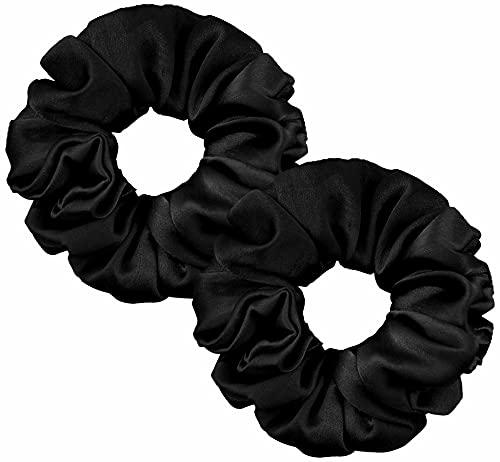 LangHorn Silk Scrunchies 100% Pure Silk 22MM Charmeuse scrunchies for Women & Girl's Hair Care - Silk Hair Ties mulberry hair elastic bands women hair accessories Soft silk hair ties