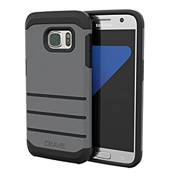 S7 Case Crave Strong Guard Protection Series Case for Samsung Galaxy S7 - Slate