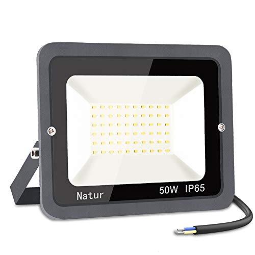 50W Faretto LED da Esterno, bapro Proiettore 5000 lumen Faro LED, Bianco Caldo 3000K Fari LED Moda, Impermeabile IP65 Lampada Luce di Sicurezza Potente Super Luminosa per Giardino Corridoio Cortile