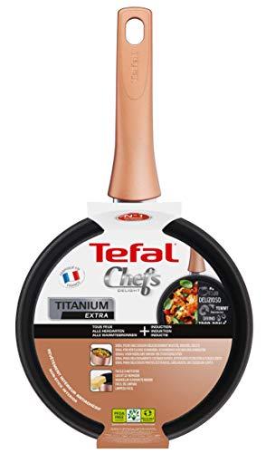 Tefal G1173002 - Cazo Chef Cobre, 20 cm con Revestimiento Antiadherente fácil de Limpiar, Color Cobre, Compatible con Todo Tipo de cocinas, incluida la inducción, Fabricado en Francia