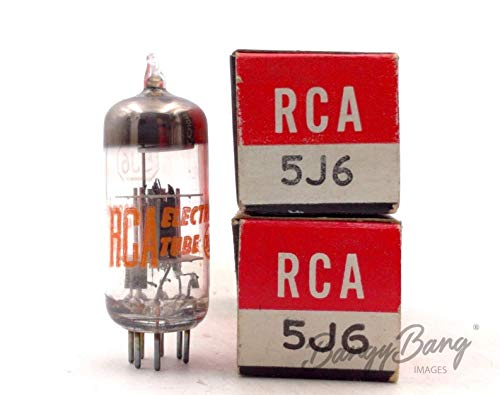 Great Features Of 2 Vintage RCA 5J6 Twin Triode Radio Amp. Oscillator Mixer Valve- BangyBang Tubes