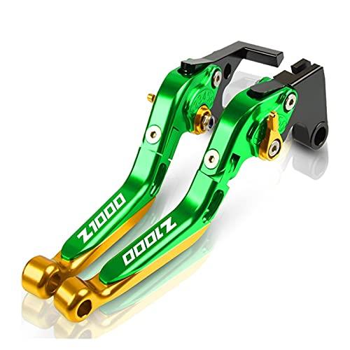 Embrague Motocicleta Accesorios de Motocicleta palancas de Embrague de Freno Extensibles CNC para K&awas&AKI Z1000 2017 2018 2019 2020 2021 Palanca de Frenos Z1000 Palanca (Color : W)