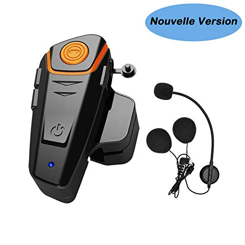 Kit Main Libre Moto, Thokwok BT-S2 Intercom Moto Bluetooth Casque Ski Oreillette Bluetooth pour...