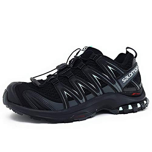 Salomon Women's XA Pro 3D Trail Running Shoes, Black/Magnet/Fair Aqua, 7.5