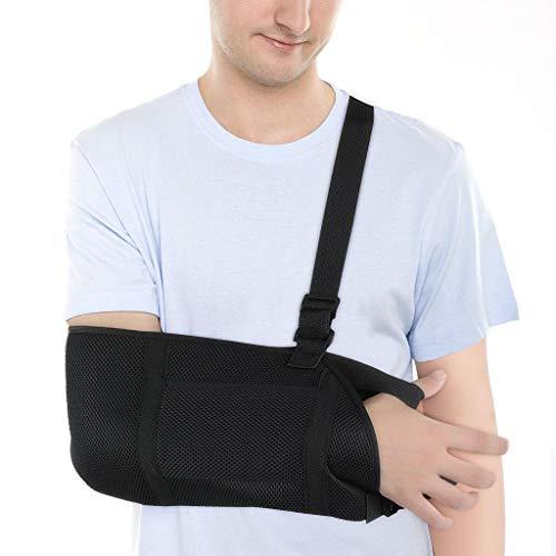 atmungsaktive Handgelenk-Ellbogenstütze Schulterabduktionsschlinge Armschlinge mit Daumenstütze, verrutschte Schulterschlinge für die Wegfahrsperre am Handgelenk für Erwachsene und Jugendlich