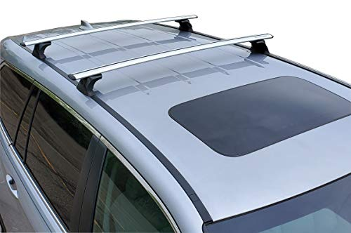 BrightLines Crossbars Roof Racks Compatible with 2016 2017 2018 2019 2020 2021 Honda Pilot Without Roof Side Rails