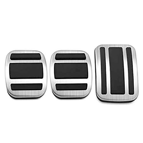 SIAKYED Auto Copripedali Pedali per Peugeot 308S 308 408 3008 5008 C5 AIRCROSS 2014-2019, Acceleratore Braking Frizione Copri Pedaliera Car Styling Parti Gomma in Acciaio Inossidabile