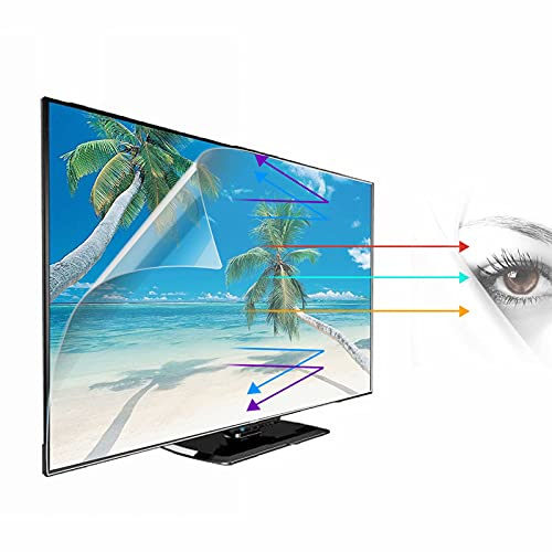 Protector de pantalla de TV con filtro de luz azul - Película de filtro de deslumbramiento Protección ocular Protector de pantalla con bloqueo de luz azul para LCD, LED, OLED y QLED 4K HDTV