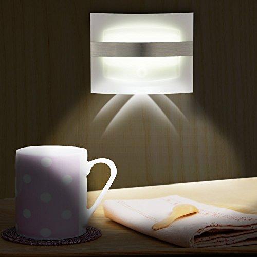 Cdycam LED-Wandleuchter, Bewegungsmelder, Nachtlicht, PIR- und Bewegungsmelder, kabellos, überall einsetzbar, batteriebetrieben, Spot