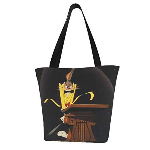 Bu-Gs Bu-Nny Cute Totes Carry Bag- Women's Shoulder Handbags Big Capacity Shopping Bag Canvas Handbags Casual Ladies for Shopping Purse portable webbing is strong and durable