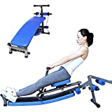 CDPC Home Rowing Machine, Foldable Rowing Machine, 12 Resistance Adjustment, Double Track, Maximum Load 200Kg, Suitable for Home Exercise