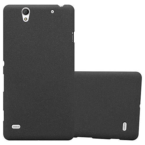 Cadorabo Hülle für Sony Xperia C4 in Frost SCHWARZ - Handyhülle aus flexiblem TPU Silikon - Silikonhülle Schutzhülle Ultra Slim Soft Back Cover Hülle Bumper