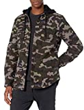 Volcom Men's Field Insulated Snow Flannel Jacket, Army, XL