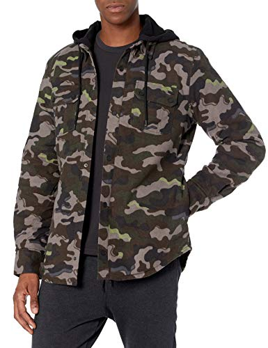 Volcom Men's Field Insulated Snow Flannel Jacket, ARMY, L