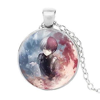 WerNerk My Hero Academia Pendant Necklace Anime Manga Cosplay Necklace Gemstone Necklace Pendant Anime Fans Jewelry Gift  H01