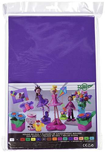 Faibo 653-27 - Pack de 10 láminas de goma Eva, 20 x 30 cm, color violeta