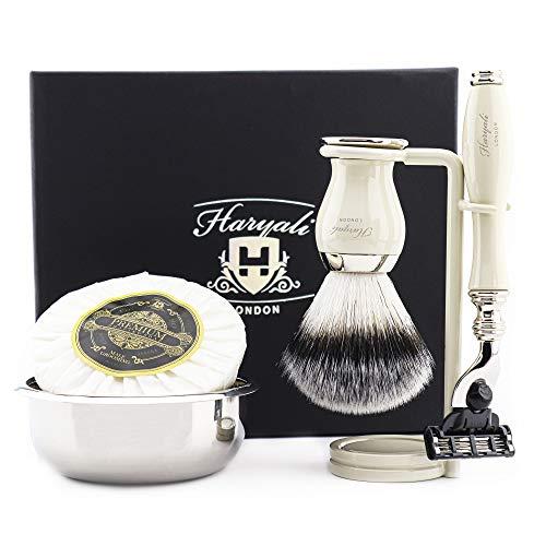 Kit de afeitado prémium con maquinilla de afeitar,...