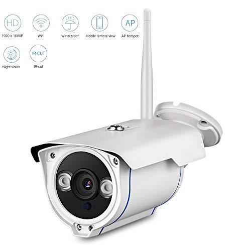 LQQZZZ Cámara IP, Bala 1080P IP De Vigilancia De Seguridad CCTV Cámaras HD 2MP Cámara Al Aire Libre Impermeable De La Cámara De Vigilancia del Hogar con Ranura para Tarjeta Micro SD