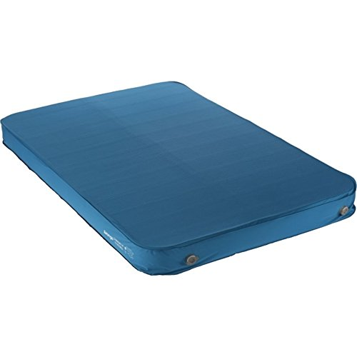 Vango Shangri-La 15 15cm Thick Double Sleeping Mat, Self Inflating Sleeping Mat with Cyclone Valve, Inflate/Deflate in 30 Seconds, Sky Blue