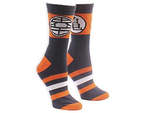 Ripple Junction Dragon Ball Z Kame Symbol with Stripes Socks Blue