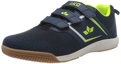 Lico Chess V Jungen Multisport Indoor Schuhe, Marine/ Lemon, 39 EU
