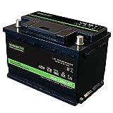 MOBILEKTRO® Batería de litio LiFePO4 80 Ah 12 V 1024 Wh con BMS Bluetooth, -30 °C - EQ 120 Ah - 160 Ah AGM o GEL para montaje en autocaravanas, barcos, camping o sistemas solares, tamaño DIN L3