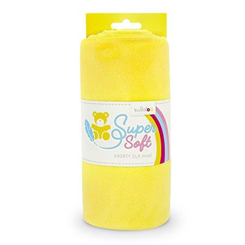 kullaloo Supersoft Plüsch Stoff Shorty in vielen Farben - 1,5mm Florlänge, EN 71-3 & EN 71-9 Zertifiziert (gelb)