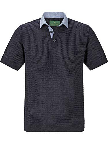 Charles Colby Herren Poloshirt Russel (Freizeit-Poloshirt, Strick-Polo) dunkelblau XL - 56/58