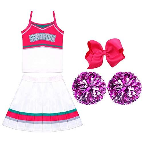 uDaShaA Disfraces de Addison, Disfraz de Animadora Zombi para niñas, Conjunto Completo Fiesta, Regalo de cumpleaños