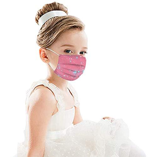 RUITOTP 50pc Kinder Kinder Einweg-Gesichtsschutz Industrielle 3Ply Ohr Schleife Tier Druck süße Bandanas für Junge Mädchen