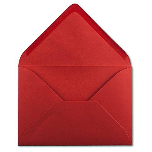 50 DIN B6 Briefumschläge Rosenrot - 12,5 x 17,5 cm - 80 g/m² Nassklebung Post-Umschläge ohne Fenster für Einladungen - Serie Colours-4-you