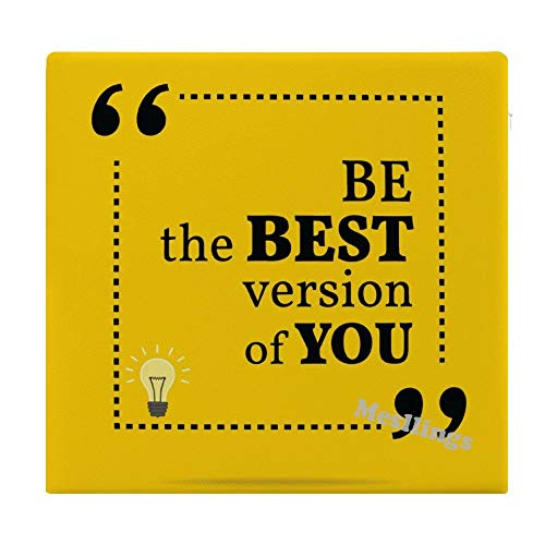 "Mesllings Simple Quote Be The Best Version of You Home Printed Fashion Square Comfortable Seat Cushions Chair Pads Office Soft Cushion - 15"" x 14"""