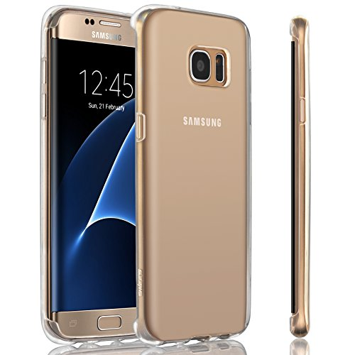 SWEES for Samsung Galaxy S7 Edge Case, Slim Thin Soft Silicone Gel TPU Clear Back Case Shock Absorbing Protective Cover for Samsung Galaxy S7 Edge 5.5 inch (2016 Released), Transparent