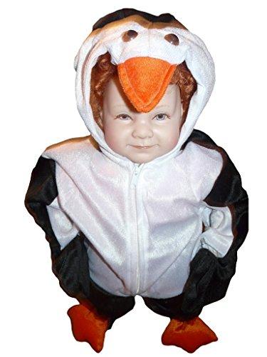 Pinguin-Kostüm, J35 Gr. 86-92, für Klein-Kinder, Babies, Pinguin-Kostüme Pinguine Kinder-Kostüme Fasching Karneval, Kinder-Karnevalskostüme, Kinder-Faschingskostüme, Geburtstags-Geschenk