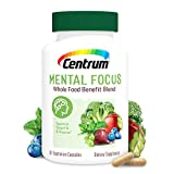 Centrum Mental Focus Nootropic Supplement, with Spearmint Extract and B-Vitamins Supports Focus, with Whole Food Blend, 30 Day Supply(60 Capsules)