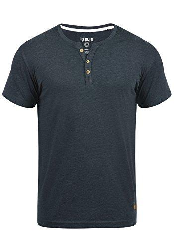 !Solid Volker Herren T-Shirt Kurzarm Shirt Mit Grandad-Ausschnitt, Größe:L, Farbe:INS BLU M (P8991)